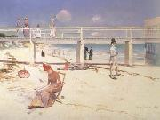 Charles conder A Holiday at Mentone oil painting picture wholesale